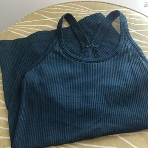 Sz 4 Blue Lululemon Top